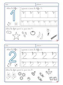Librairie-Interactive - Les chiffres de 1 à 5 Montessori Math, Preschool Curriculum, Kindergarten Math, Learning Activities, Preschool Activities, Numbers Preschool, Math Numbers, School Worksheets, Math For Kids