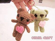 Keychain Teddy Bears free crochet pattern by Ohana Craft