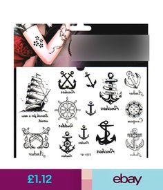 6610b171869f5 Temporary Tattoos Removeable Fashion Waterproof Sailor Anchors Body Art Temporary  Tattoos Sticker #ebay #Fashion