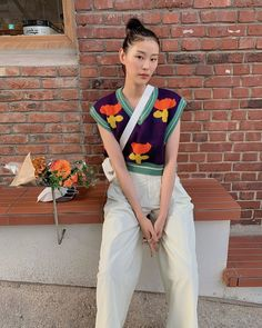 Vest Outfits, Cute Outfits, Fashion Outfits, Fashion Tips, Streetwear, Mode Inspiration, Aesthetic Clothes, I Dress, Spring