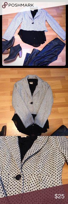 White Black Jacket White Black House jacket White House Black Market Jackets & Coats Blazers