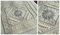 This is perfection! Beauty and elegance in each stitch. It looks very classical in this color but this beautiful pattern is a modification of the popular Charlotte – Large Square by Dedri Uys