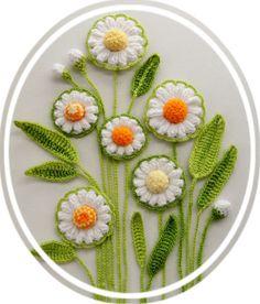 Apliques flores y hojas Set Margarita Flores por CraftsbySigita