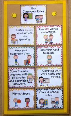 Free Classroom Rules Poster for back to School. Pin now, save for later! #classroom