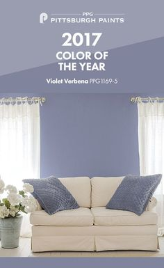 PPG Pittsburgh Paints® 2017 Color Of The Year Is Violet Verbena, A  Grayed Off, Moody Purple With A Chameleon Like Presence. From Playful Rooms  To Tranquil ...