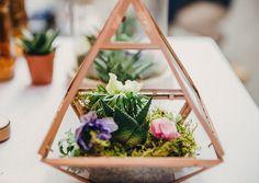 Copper geometric terrarium Kasia Bacq
