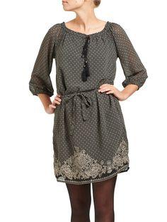 3/4 SHORT DRESS, Black
