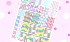 pastel goth planner sticker kawaii chibi pastel color fairy kei printable girl clip art agenda organizer pink download scrap lasoffittadiste