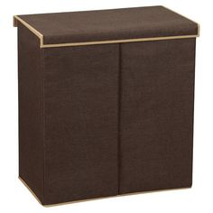 Found it at Wayfair - Lidded Double Hamper in Coffee Linen What a great way to keep your dirty clothes hidden - right in the open! This hamper looks so good it would not need to be hidden in a closet.