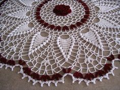 Flor de la Antartida doily. I found this pattern a while back on the web (can't remember where). It immediately caught my eye because of ...