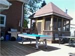 This room is outdoor with our outdoor pool table