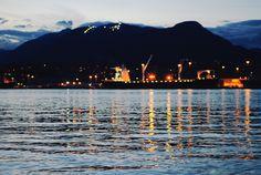 Night Lights - Vancouver, British Columbia  shot from Brighton Beach
