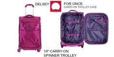 """Travel Tip: How to pack for a week in a 19"""" carry-on. {Using the @DelseyUSA 'For Once' Suitcase}"""