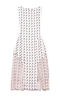 Shop Geo Printed Crepe Layered Dress by Thakoon for Preorder on Moda Operandi