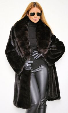 THIS HANGS IN MY FUR CLOSET :-)) black mink fur coat