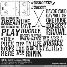Hit the Ice Brushes and Stamps- Katie Pertiet Brushes- DS276283- DesignerDigitals