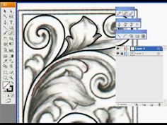 Tutorial on drawing scrolls and curved lines with Adobe Illustrator.