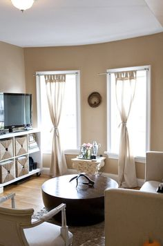 Middle Tie Curtains Apartment Inspo Pinterest