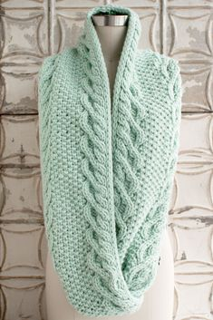 Monoshone Creek Cowl (I adore the colour, in particular, but what a lovely unique pattern ~ DianeS)