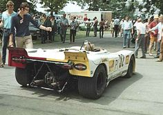 1970 - In the paddock. Dr. Helmut Marko's #32 Porsche 908-02