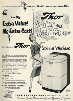1953 Ad, Thor Spinner Washers by classic_film, via Flickr