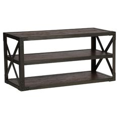 Perfect for first apartments or cozy living spaces, this sleek console table tucks behind a sofa for chic style.Features:Meta...