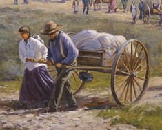 Our Honored Pioneer Heritage by Thomas S. Pioneer Trek, Pioneer Day, Pioneer Life, Lds Pictures, Church Pictures, Mormon Pioneers, Lds Conference, Walk In The Light, Lds Art