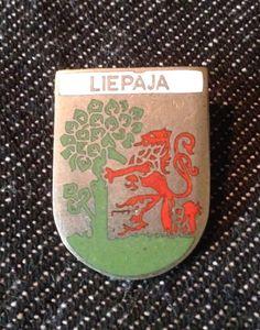 Vintage LIEPAJA Coat Of Arms Latvia Pin Badge  | eBay