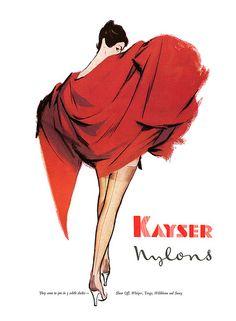 1956 Kayser Nylons ad   Flickr - Photo Sharing!