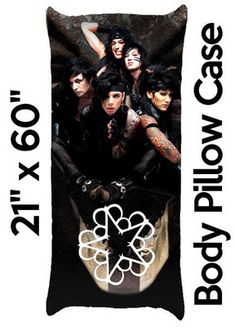 "BLACK VEIL BRIDES Andy Andrew Biersack Body Pillow Case Cover 21"" x 60"" B"