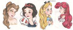 Ways to sketch princess emotions