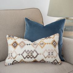 Boho cushion cover, Embroidered printed navajo, 30x50cm, Gold brown on a beige background, Piped cushions cover, Geometric desing Beige Cushions, Boho Cushions, Dark Brown Color, Brown And Grey, Embroidered Cushions, Ethnic Patterns, Beige Background, Tamarind, Selena