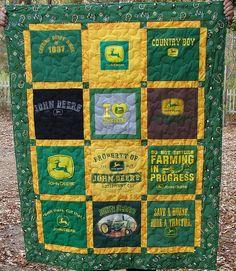 John Deere themed t-shirt Quilt by Breaux Bunch Quilts, via Flickr