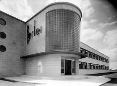 Berlei Factory, Slough (1937) by Brown and Hartley. Streamline Moderne underwear factory based in Slough, now demolished.
