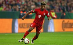 Download wallpapers Kingsley Coman, 4k, Liverpool, footballers, match, Premier League, Coman