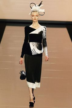 Armani Prive and Philip Treacy Fall 2011 Kimono collection