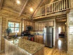 Huge cabin kitchen #