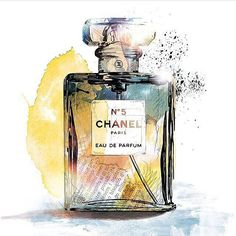 de – Product Illustrations created with watercolors, ink and fineliners: Chanel Coco Chanel Wallpaper, Chanel Wallpapers, Chanel Poster, Bottle Drawing, Parfum Chanel, Perfume Making, Aesthetic Painting, Fashion Wall Art, Perfume Bottles