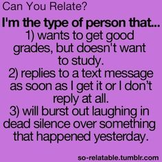 Haha yeah I can relate especially to (wanting to get good grades without studying)! Haha, Funny Teen Posts, Funny Teenager Quotes, Teen Funny, Funny Quotes For Teens, Just Dream, Teen Life, Lol So True, True True