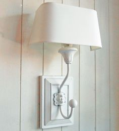 Bowley & Jackson French wooden wall light with half round shade Bowley & Jackson