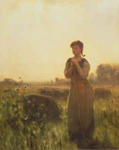 The Farm Girl by Arthur Hacker