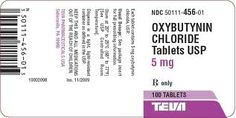 Oxybutynin (to relax the bladder from spasms)