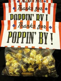 Easy Popcorn Party Favor Idea - with Fun Free Printable Topper