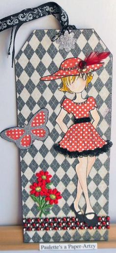 Prima Doll in Red Polka Dot Dress by parknslide - Cards and Paper Crafts at Splitcoaststampers