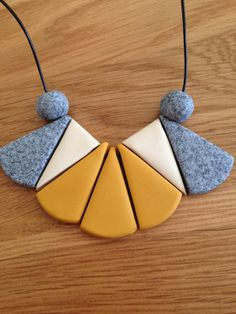 """Polymer clay necklace, """" Mosaic"""" on Etsy, $35.00 AUD"""