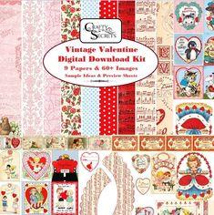 Crafty Secrets Heartwarming Vintage Ideas and Tips: Vintage Valentine Kit and DT Samples