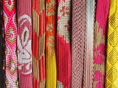 Japanese Furisode Obi-Jime Silk Kimono Cord Flat by LaKimonoya