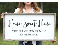Knot & Nest's farmhouse signs are handmade in our wood shop in Florida and can be customized in ANY way for you and your family! They come ready to hang and are large enough to stand on their own or can be incorporated into a gallery wall. Our farmhouse signs are custom made of white