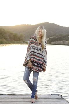 free-people-poncho-sweater-distressed-skinny-jeans