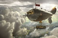 Airship above the clouds by Uli Staiger
